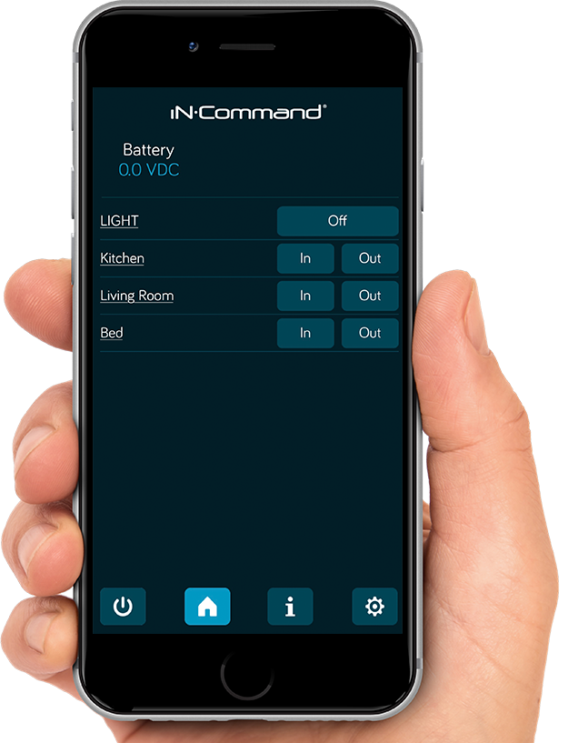 iN-Command Control Systems - Lite - Mobile App Preview