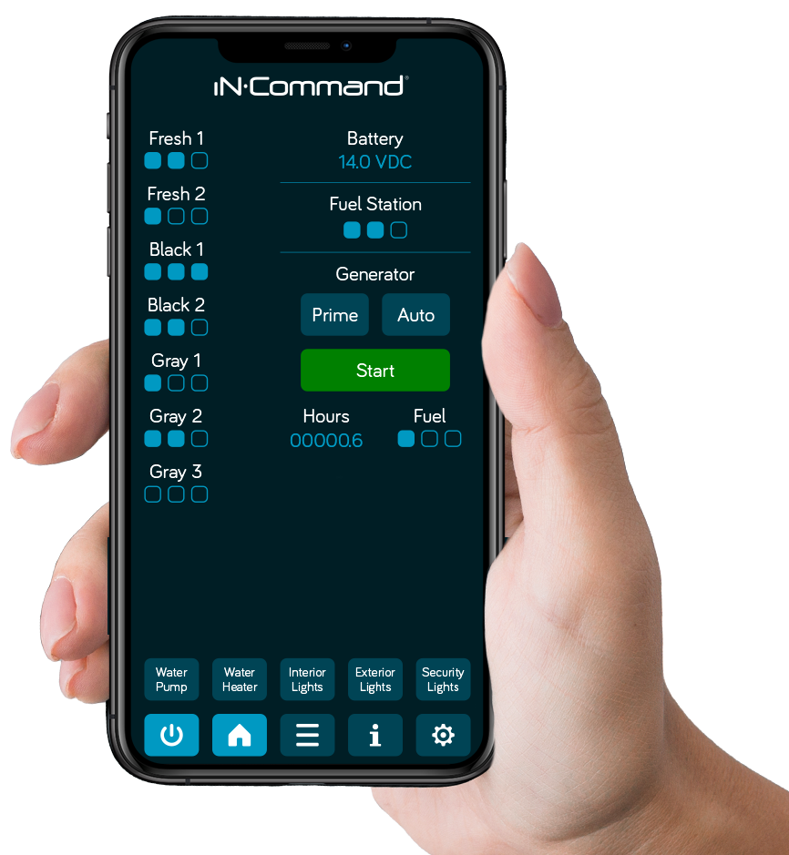 iN-Command Control Systems - Pro - Mobile App Preview